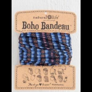 Natural Life Boho Headband Bandeau Blue & Black